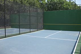 tennis court practice walls parks recreation