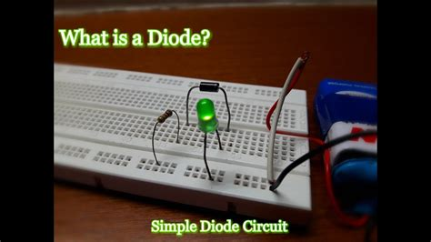 What Diode Diy Simple Circuit Youtube