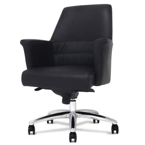 geffen genuine leather aluminum base low back executive