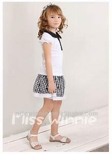 Nova Corrugated Edge Black And White Tartan Girls Short ...