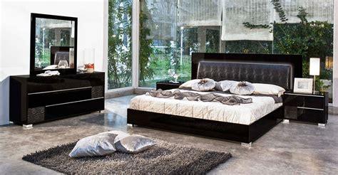 modern bedroom furniture sets modrest grace italian modern black bedroom set 16276 | grace black web