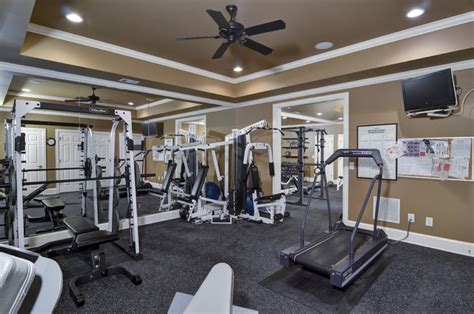 basement remodel traditional home gym atlanta
