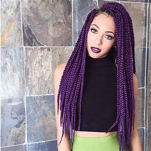 9 Perfect Examples of Purple Box Braids | HairstylesOut