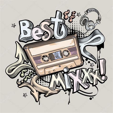 Best Dj Mix Best Dj Mix Graffiti Stock Vector 169 Alex Scholar 94081952