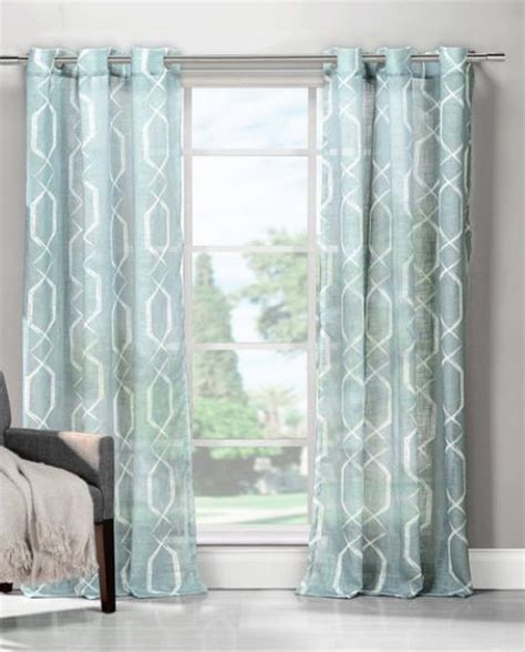 light blue curtains in dining room living room remodel