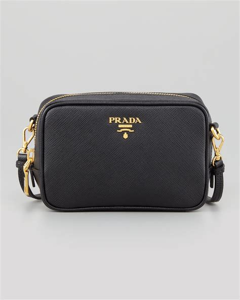 prada saffiano mini zip crossbody bag black pranda bags