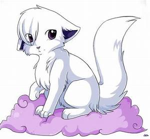 anime white wolf pup