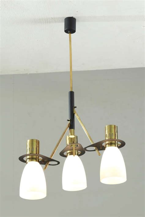 reversable stilnovo three armed chandelier with matching