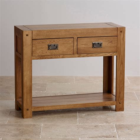 dining room sets rustic quercus console table in rustic solid oak oak furniture land