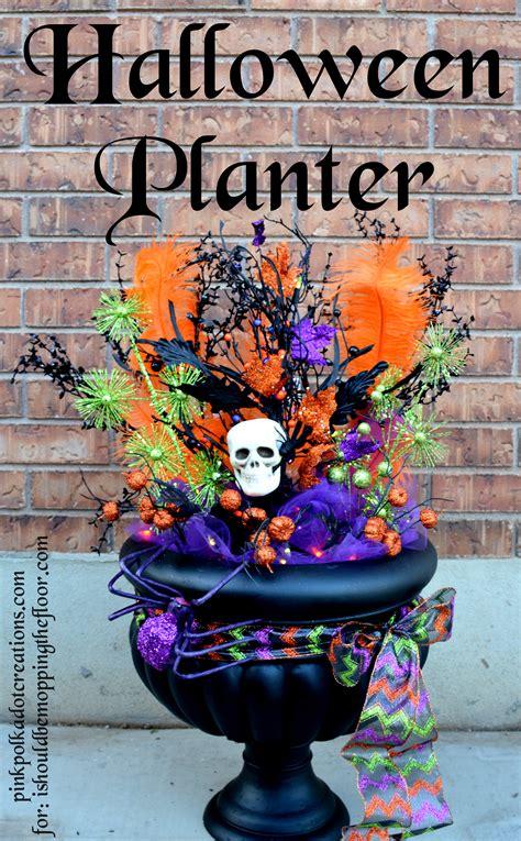 halloween planter guest post pink polka dot creations