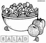 Salad Coloring Pages Fruit Sheet Printable Vegetables Colorings Fruits Getdrawings sketch template