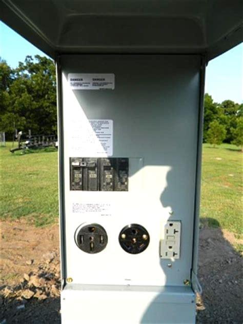 rv electrical pedestal rv park power pedestal wiring forest river forums