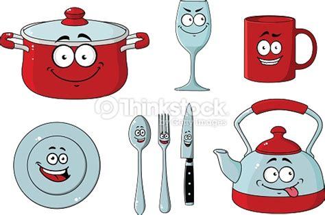 clipart cuisine gratuit dessin animé ensemble de vaisselle et dustensiles de