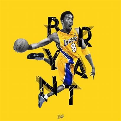 Nba Typography Behance Animations Kobe Basketball Bryant