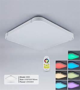 Led Deckenleuchte Rgb : silber 48w rgb led deckenleuchte 3000 6000k volldimmbar mit farbwechselfunktio style ~ Watch28wear.com Haus und Dekorationen