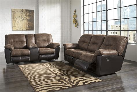 Follett Coffee Reclining Sofa And Reclining