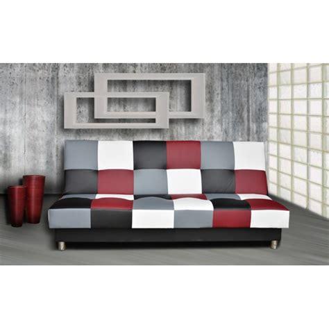 canapé lit en mousse canapé clic clac convertible juni pas cher à damier très