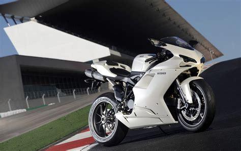 White Ducati Sport Bike