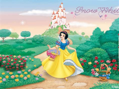 castle  princess snow white garden harvesting flowers