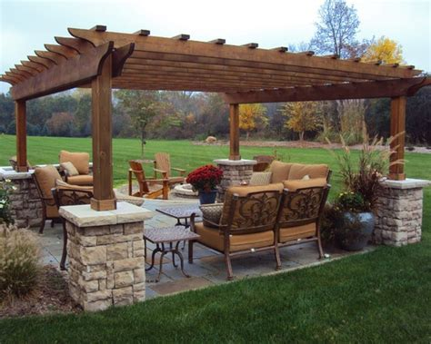 Ideas For Patios by Stand Alone Traditional Patio Pergola Design Pictures