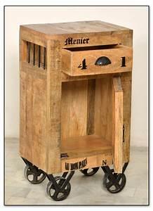 Kommode Auf Rollen : vintage kommode auf rollen 44x82x32cm ~ Watch28wear.com Haus und Dekorationen