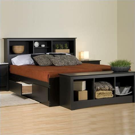 king bookcase platform storage bed prepac sonoma black bookcase platform storage bed with