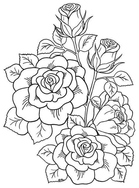 botanical roses cms jpeg (945×1280) Tattoo coloring book