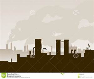 Factory Silhouette Stock Images