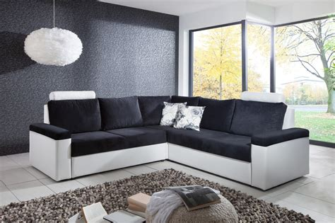 canapé d angle bois canapé d 39 angle convertible design en tissu coloris blanc