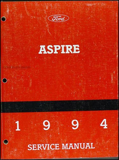 car repair manuals download 1994 ford aspire regenerative braking 1994 ford aspire repair shop manual original