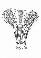 Coloring Elephants Pages Children Funny Printable Justcolor sketch template