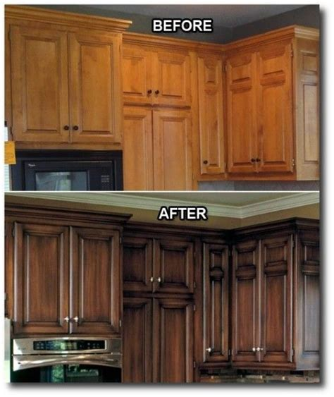 antiquing cabinets with stain kitchen updates i love that they did a dark stain with an