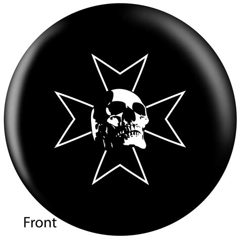 by osml by skull iron cross small bowling