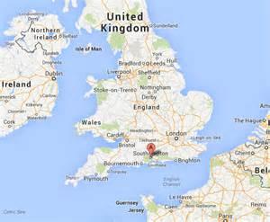London and Southampton England Map