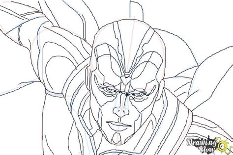how to draw vision from avengers age of ultron drawingnow