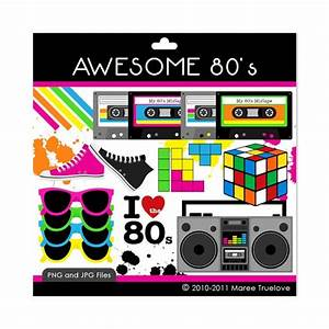 awesome 80's clipart   Erin's 13th birthday party ...