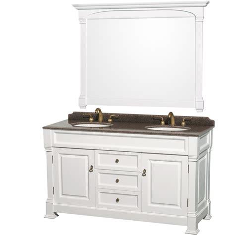 wyndham collection   double bathroom vanity  white