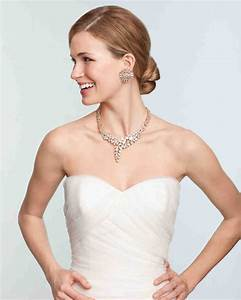 bridal jewelry for every wedding dress style martha With wedding necklaces for strapless dresses