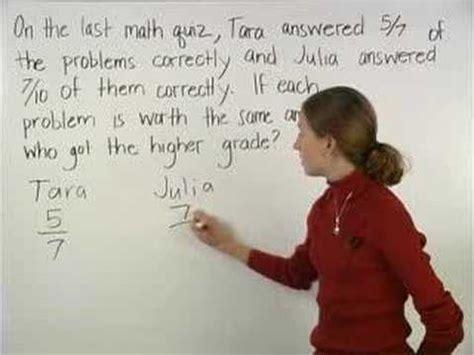 fraction word problems mathhelpcom math  youtube