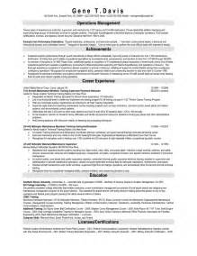 sle automotive technician resume exles diesel