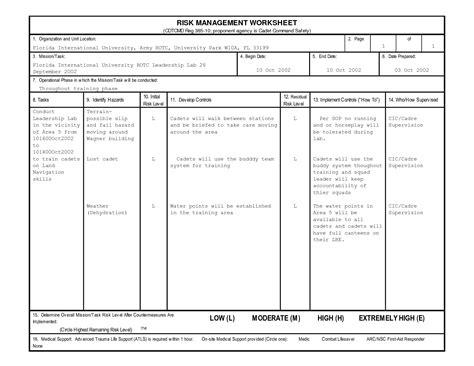 operational risk assessment worksheet abitlikethis