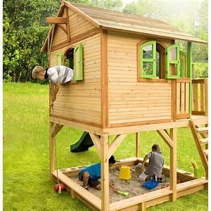 Cabane Exterieur Enfant : cabane pour enfants en bois marc 435x200x294cm axi ~ Melissatoandfro.com Idées de Décoration