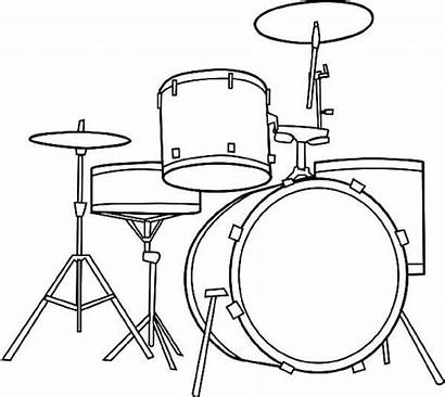 Drum Coloring Pages Drums Musical Instrument Drawing