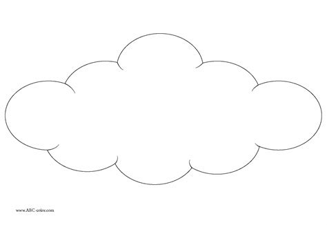 Cloud Template Template Printable Clouds Template Blank Cloud Weather