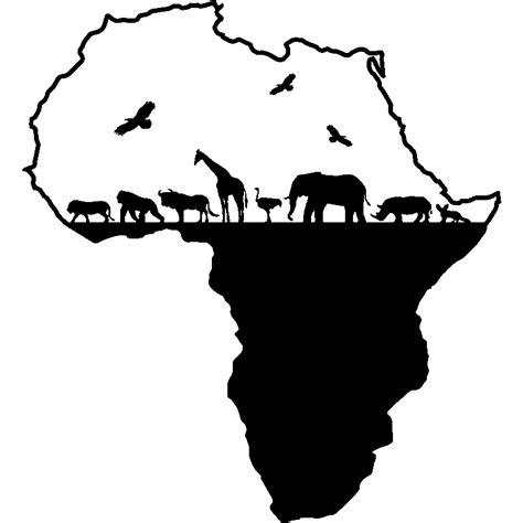 deco mur cuisine sticker carte de l 39 afrique avec les animeaux stickers