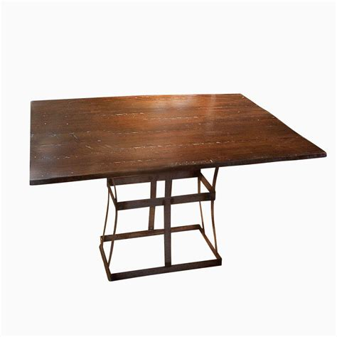 wood steel dining table buy a handmade reclaimed wood dining table with