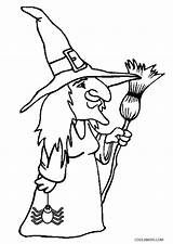 Witch Coloring Pages Printable Witches Hat Halloween Cat Cool2bkids Getcoloringpages sketch template