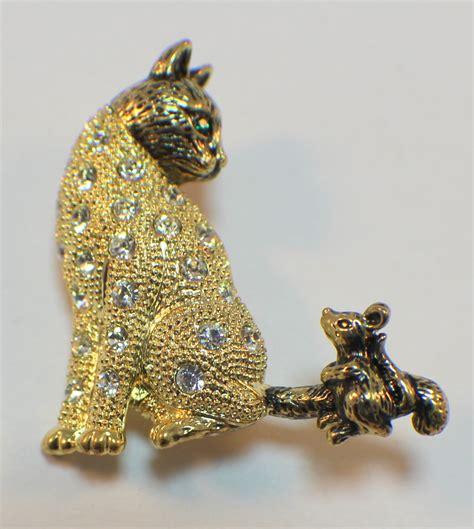 kitten cat  mouse rhinestone bling pin brooch broach ebay