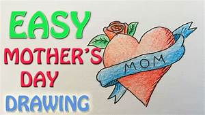 Mother's day Gift Idea - How to draw EASY step by step ...