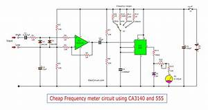 Cheap Frequency Meter Circuit Using 555 And Ca3140